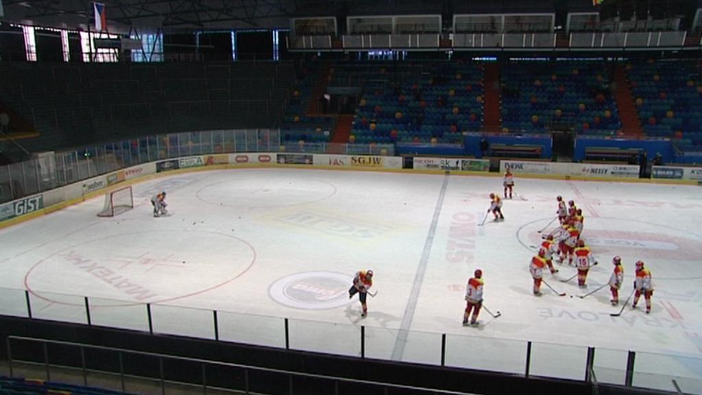 Ledová plocha hradeckého zimního stadionu