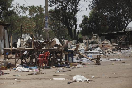 Oběť nepokojů v Nigérii