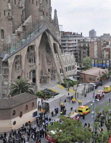V barcelonském chrámu Sagrada Familia hořelo