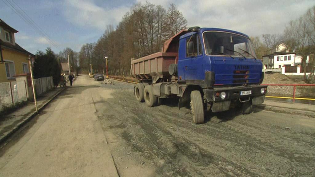 Budování kanalizace v Rožmitále pod Třemšínem