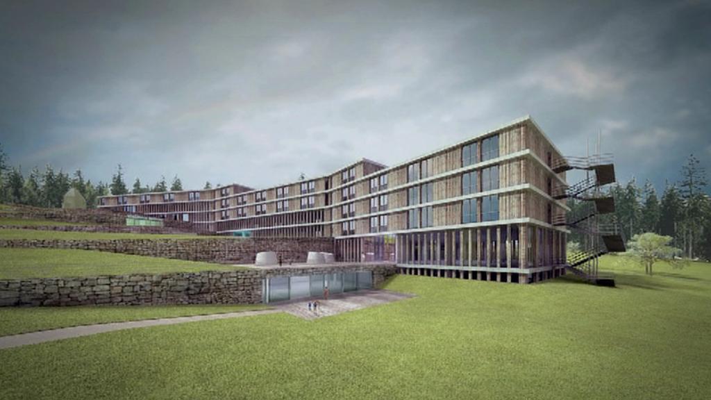 Projekt lázeňského komplexu