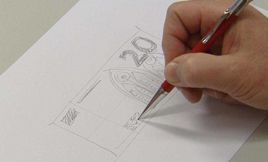 Návrh dvacetieurové bankovky