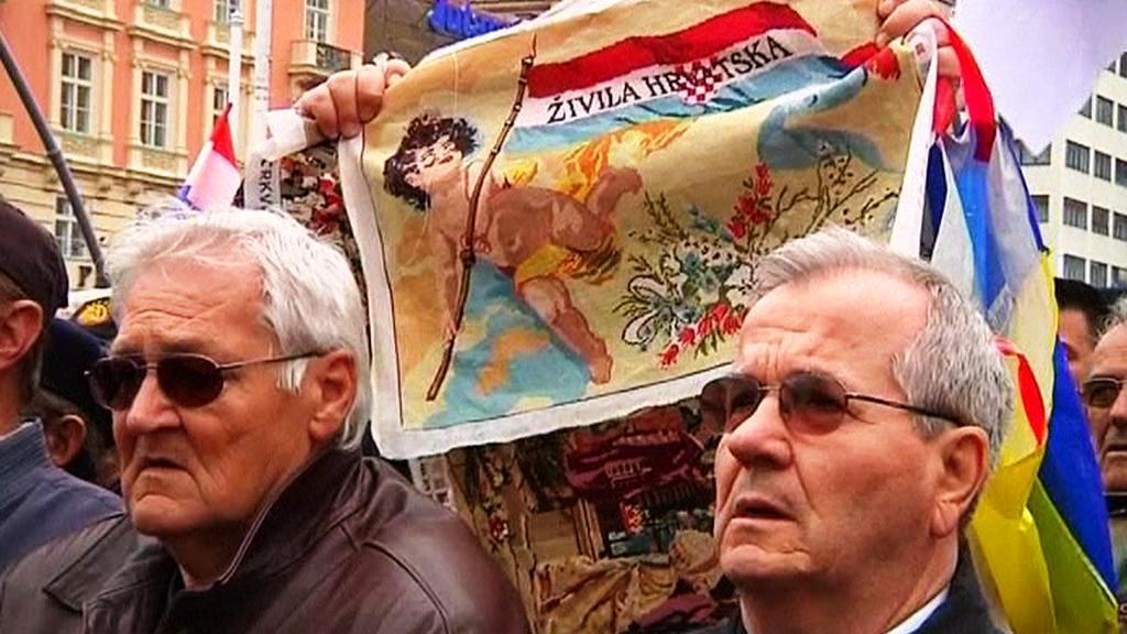 Demonstrace v Chorvtasku