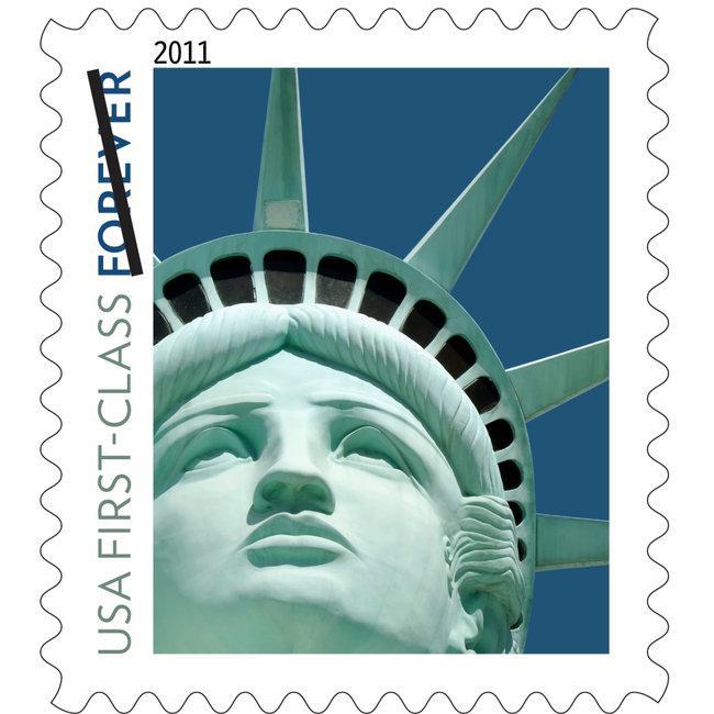 Socha Svobody na americké známce