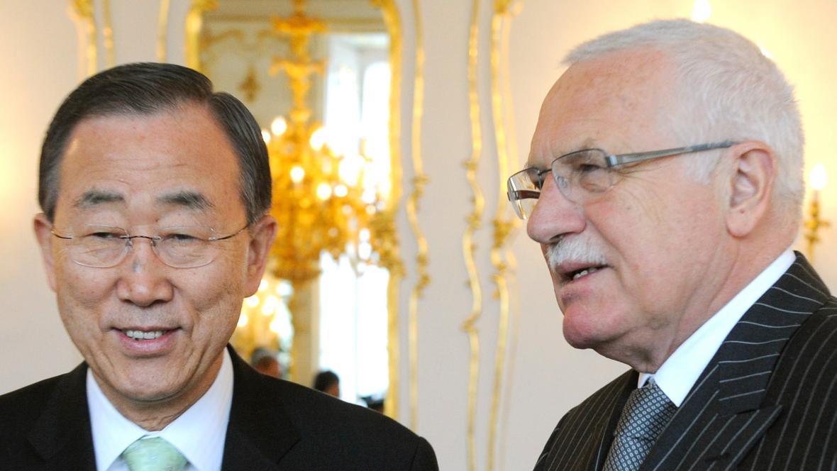 Pan Ki-mun a Václav Klaus
