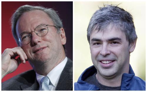 Eric Schmidt a Larry Page