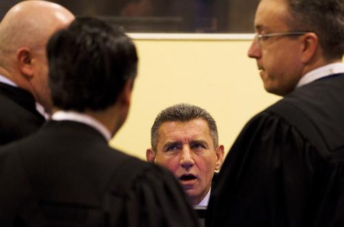 Ante Gotovina před tribunálem v Haagu