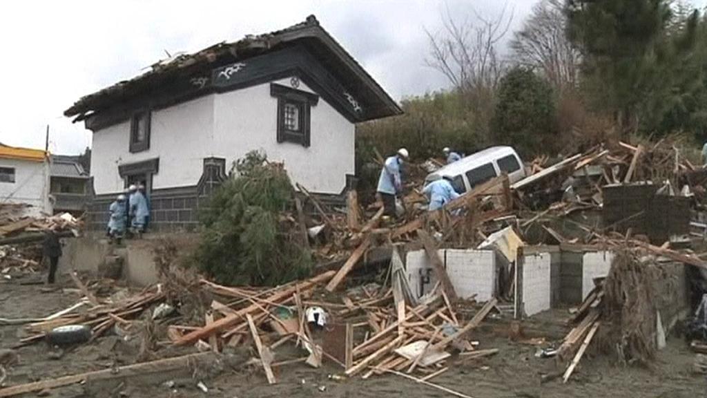 Japonsko odklízí trosky