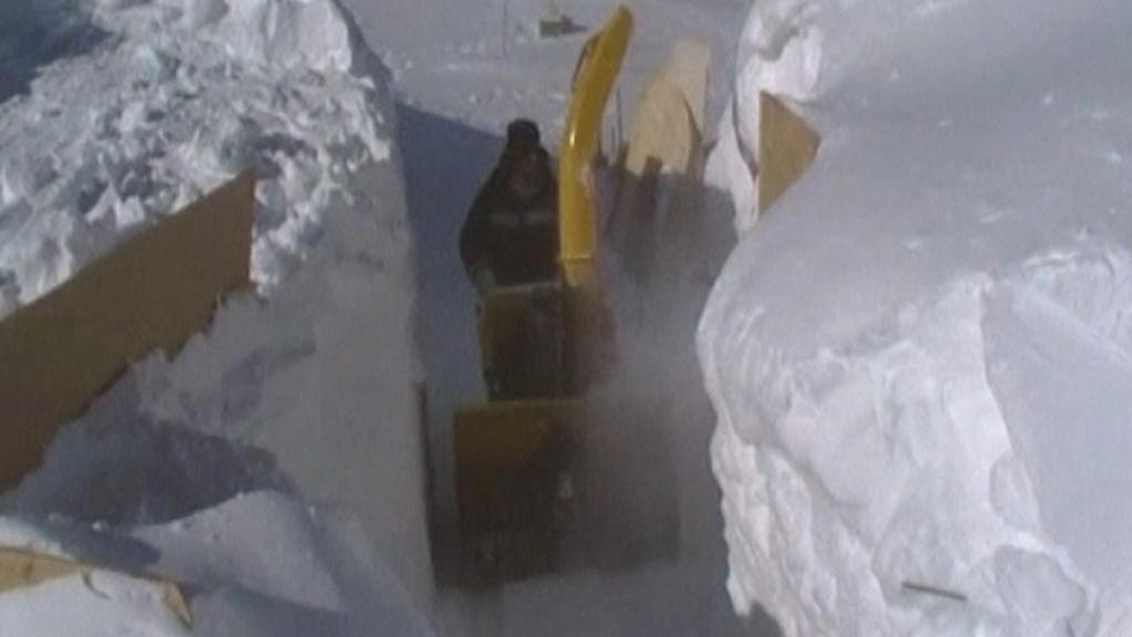 Výzkumníci na Antarktidě