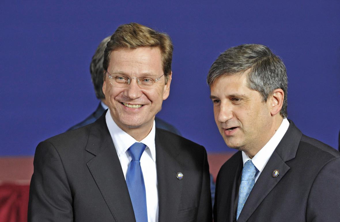 Guido Westerwelle a Michael Spindelegger