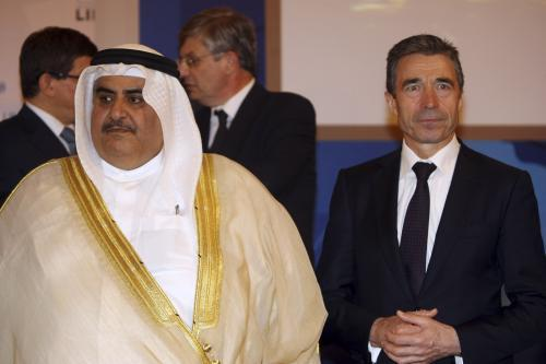 Šajch Chálid bin Ahmed al Kalífa a Anders Fogh Rasmussen