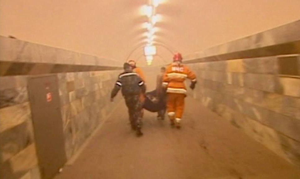 Výbuch v minském metru