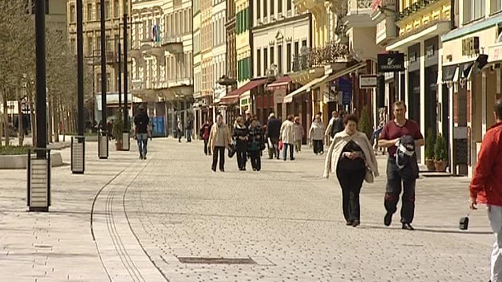Pěší zóna v Karlových Varech