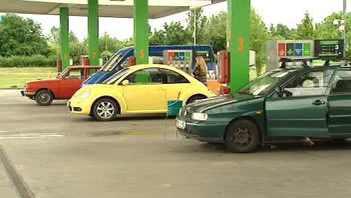U benzinové pumpy