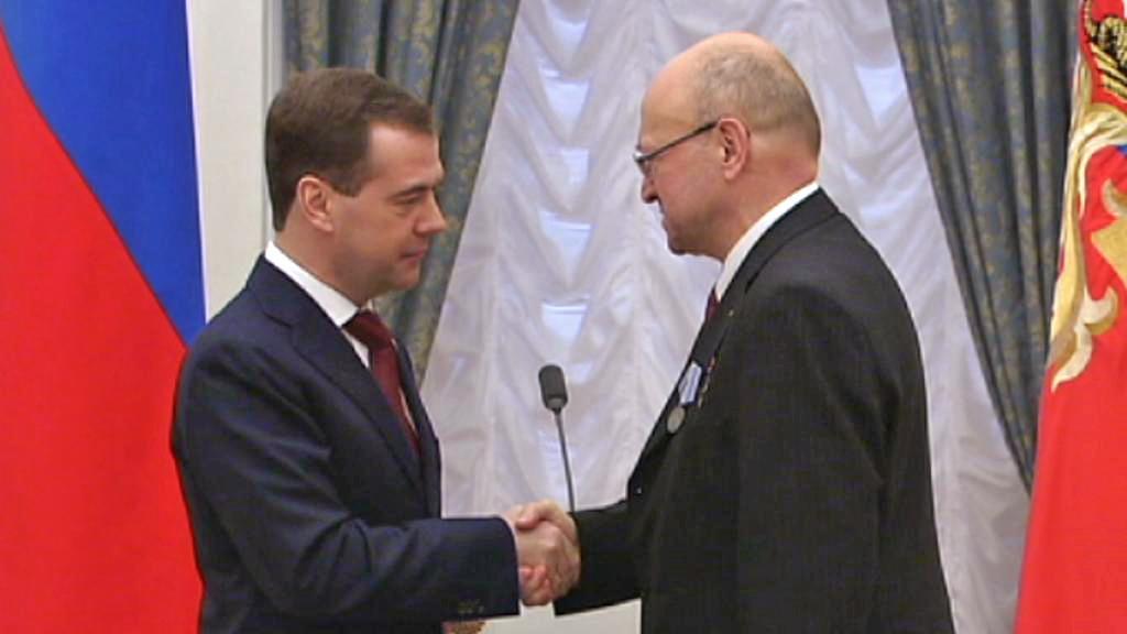 Dmitrij Medvěděv a Vladimír Remek