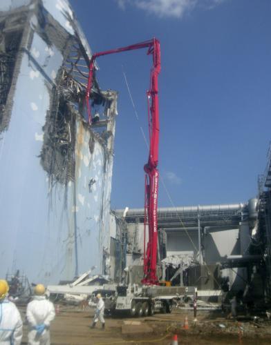 Poškozená elektrárna Fukušima 1