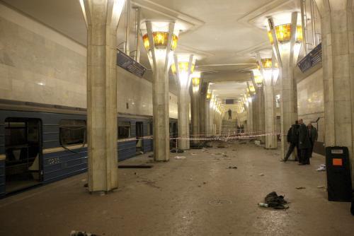 Metrem v Minsku otřásl výbuch