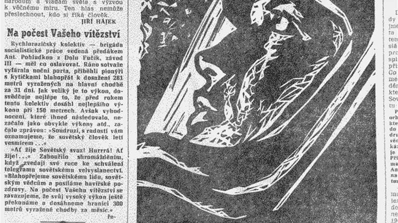 Rudé právo z 13. dubna 1961