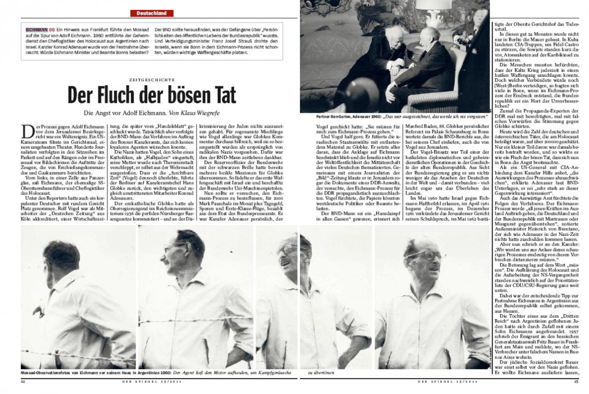 Der Spiegel o Adolfu Eichmannovi