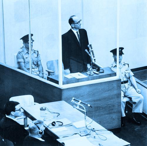 Adolf Eichmann před soudem