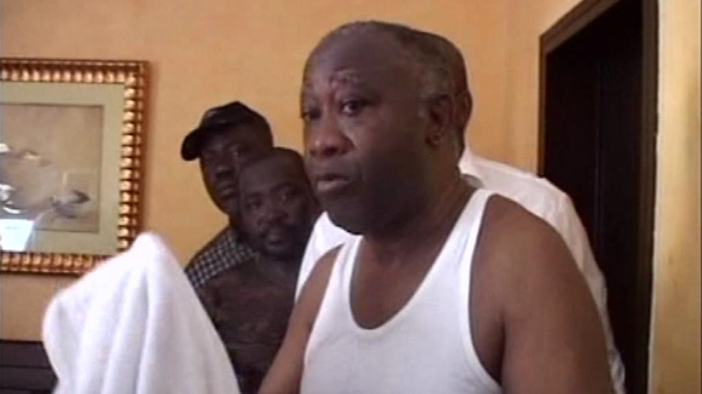 Zatčený Laurent Gbagbo