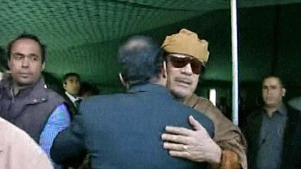 Setkání Muammara Kaddáfího s delegací Africké unie