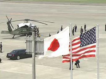 Japonská a americká vlajka