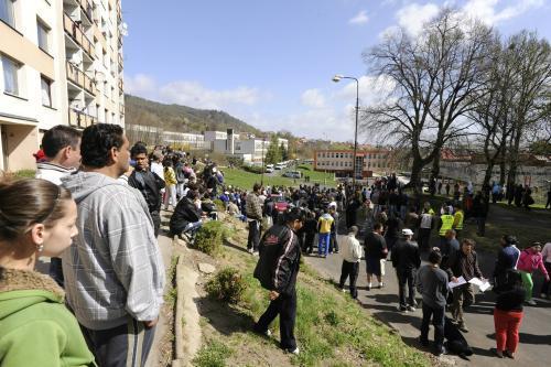 Demonstrace na Teplicku