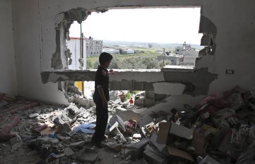 Následky izraelského útoku na Gazu