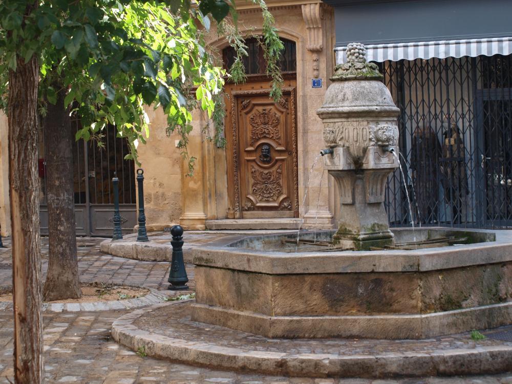 Kašna v centru Aix-en-Provence