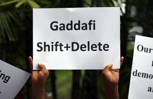 Protest proti Kaddáfímu