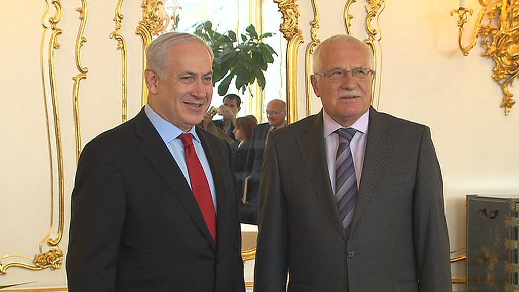 Benjamin Netanjahu a Václav Klaus