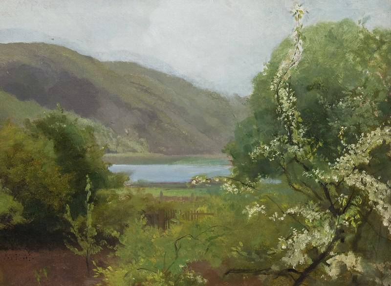 Maxmilián Pirner / Krajinka z jara (1866/1868)