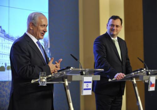 Brífink Benjamina Netanjahua a Petra Nečase