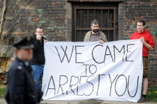 Protest proti Netanjahuově návštěvě v ČR