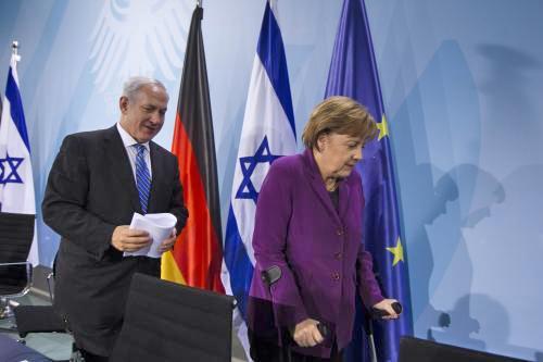 Benjamin Netanjahu a Angela Merkelová