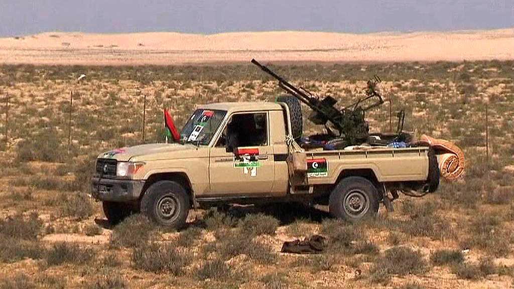 Auto libyjských povstalců