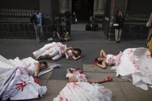Protest proti násilí v Mexiku