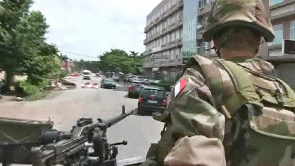 Francouzští vojáci v Pobřeží slonoviny