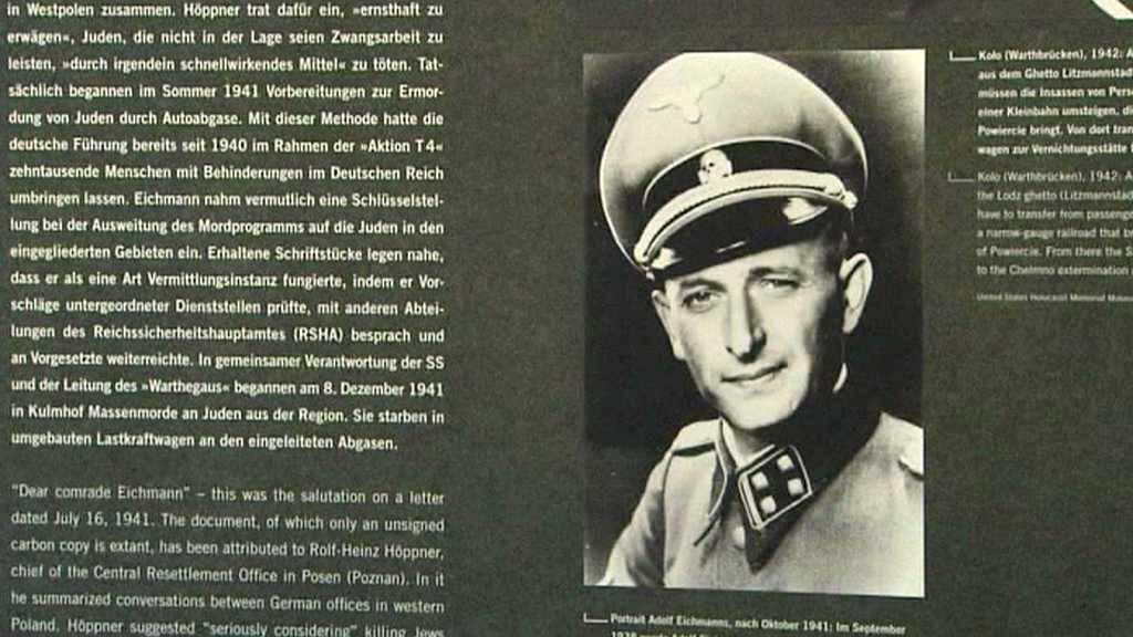 Výstava o Adolfu Eichmannovi
