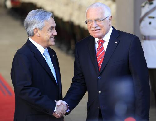 Václav Klaus a Sebastián Piñera