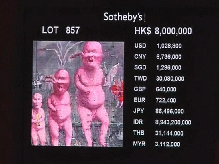 Čínské umění na aukci