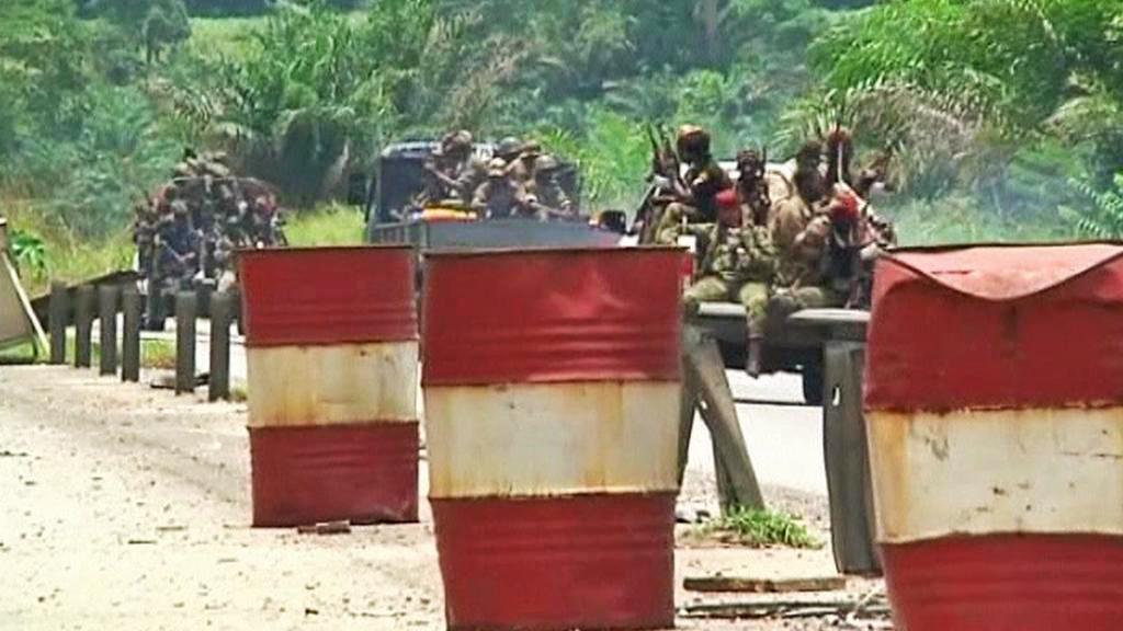 Vojáci v Pobřeží slonoviny