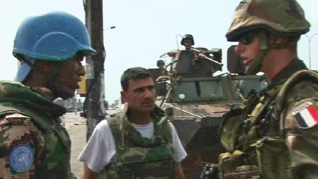 Vojáci OSN a Francie v Pobřeží slonoviny