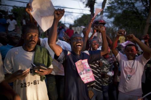 Radost Haiťanů z předběžných volebních výsledků
