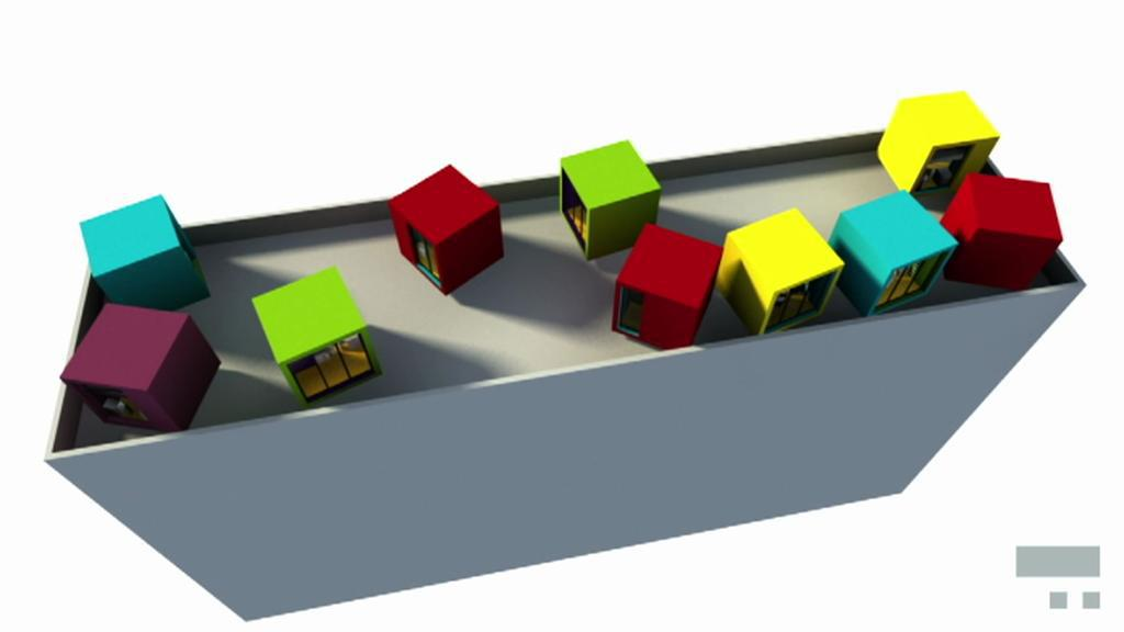 Bydlení pro singles/ vizualizace vítězného návrhu