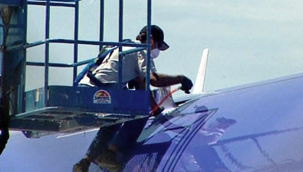 Trhlina na letadle společnosti Southwest Airlines