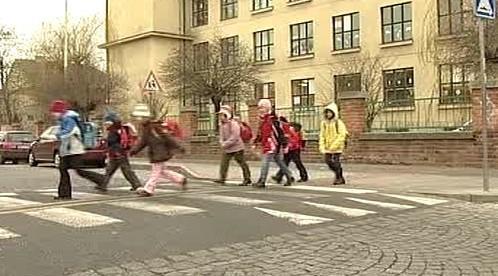 Školáci na přechodu