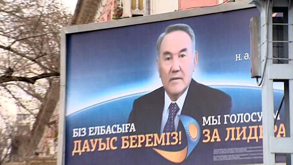 Billboard kazašského prezidenta Nazarbajeva