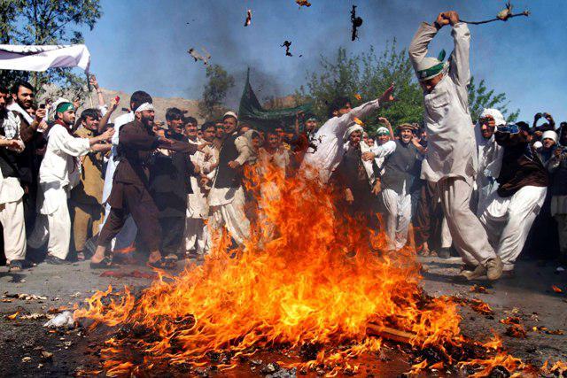 Afghánské protesty proti pálení Koránu